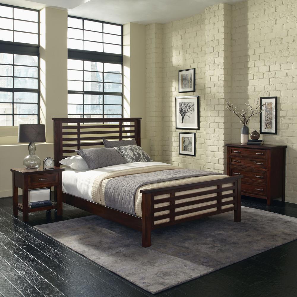 Home Styles Multi-Step 4-Drawer Chestnut Chest 5410-41
