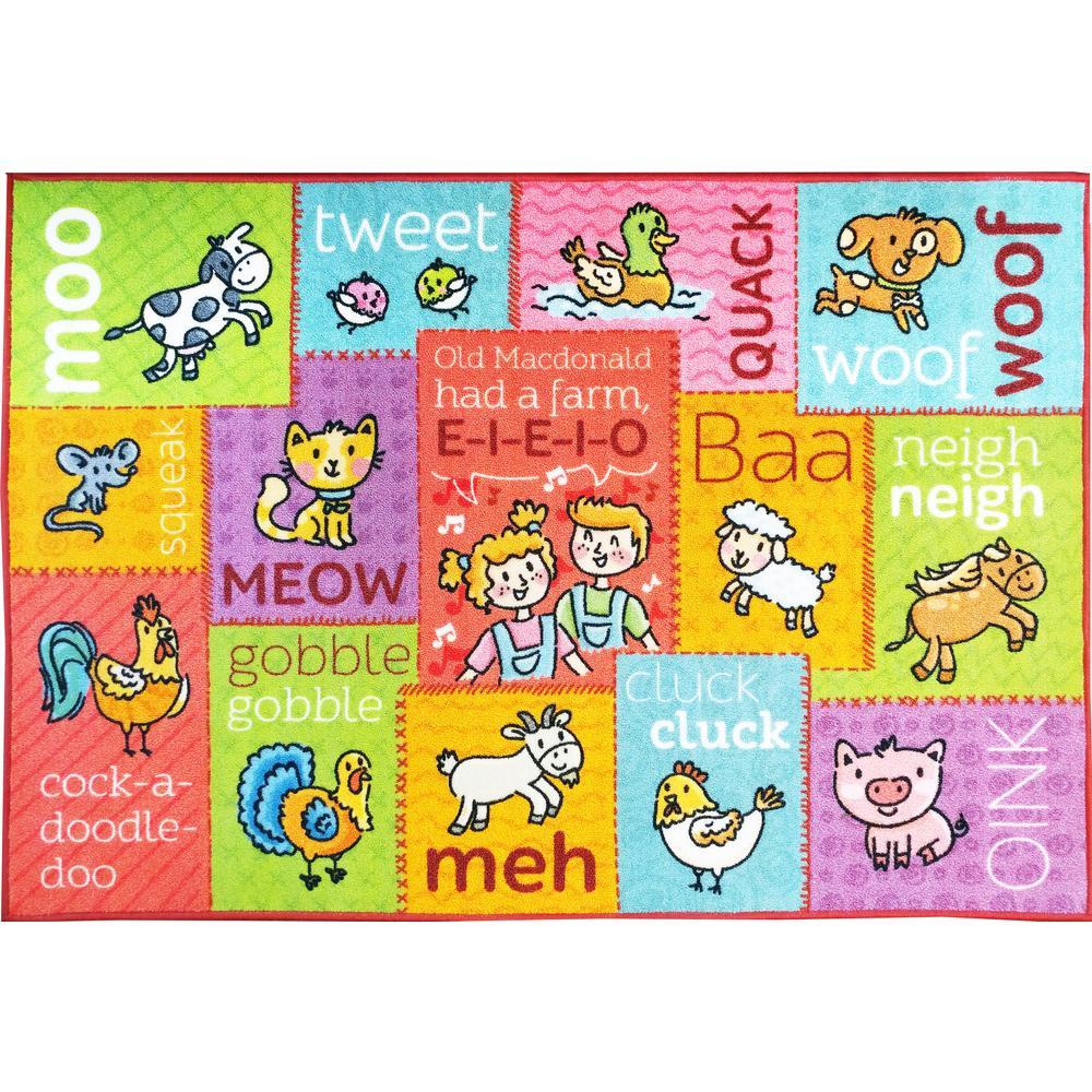 KC CUBS Multi-Color Kids Children Bedroom Playroom Old McDonald\'s ...