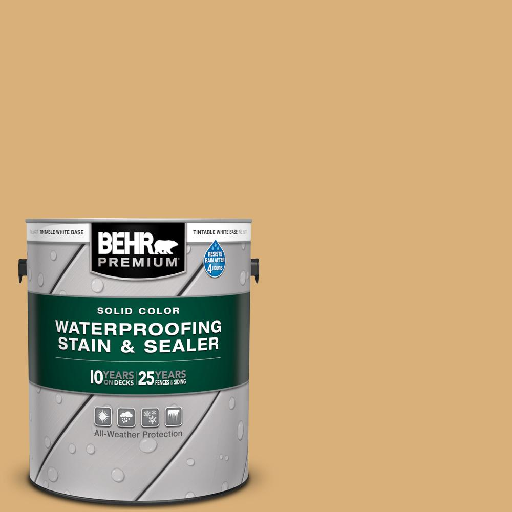 BEHR Premium 1 gal. #SC-139 Colonial Yellow Solid Color Waterproofing Exterior Wood Stain and Sealer