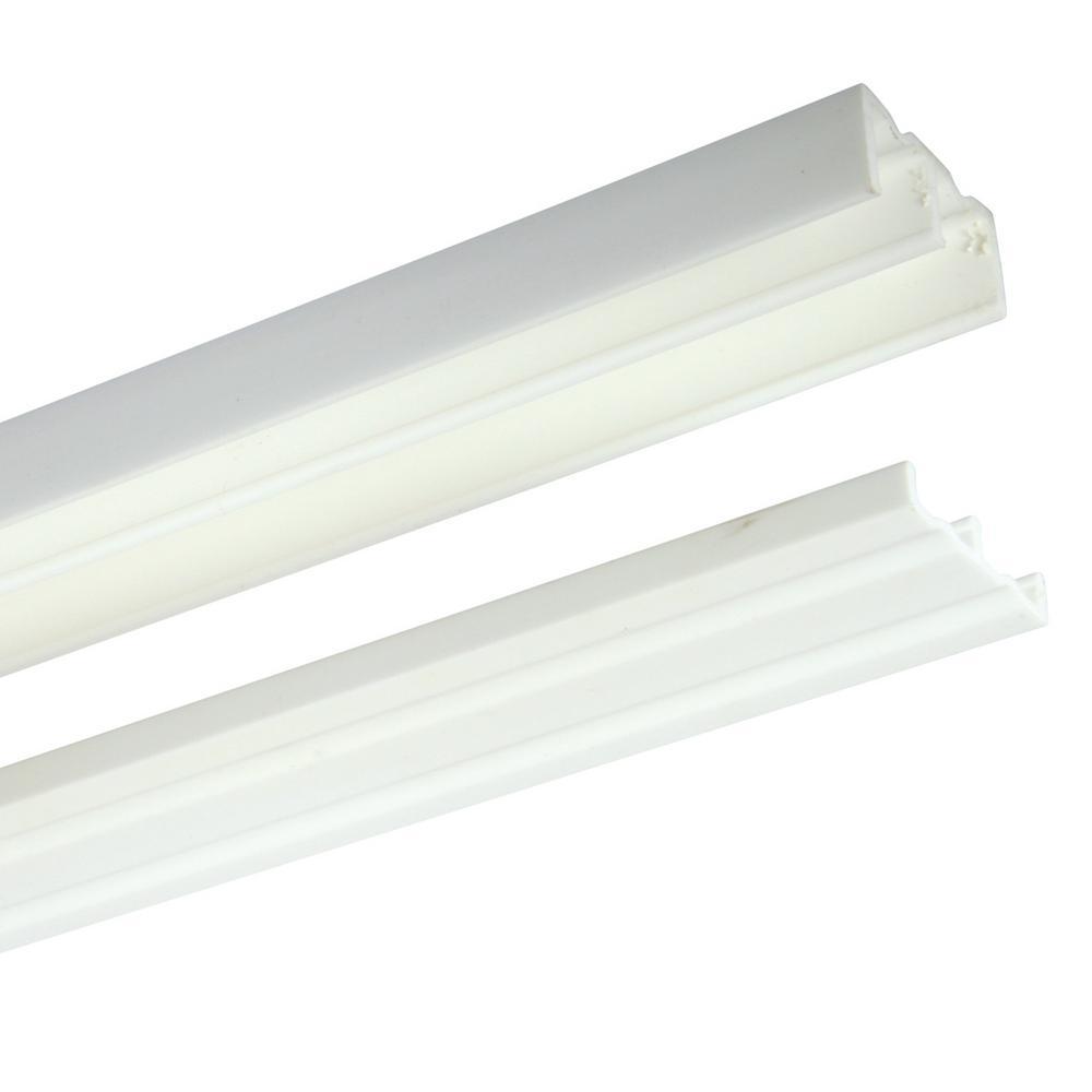 Knape & Vogt 2421 Series 72 in. White Plastic Door Track Assembly ...