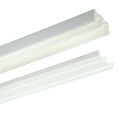 2421 Series 72 in. White Plastic Door Track Assembly