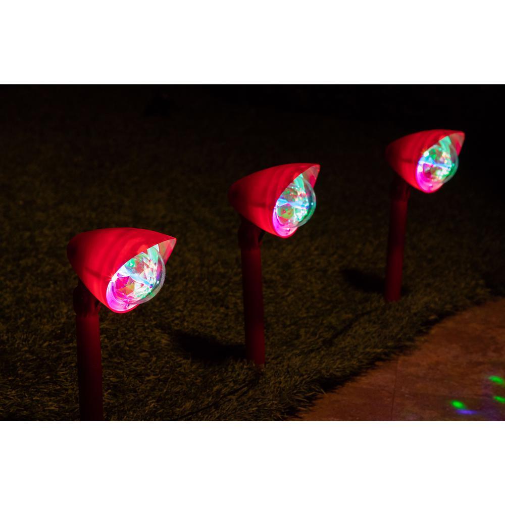 Alpine Corporation Kaleidoscope Christmas Garden Pathway LED Lights - Set of 3-STB102MC-3 - The ...