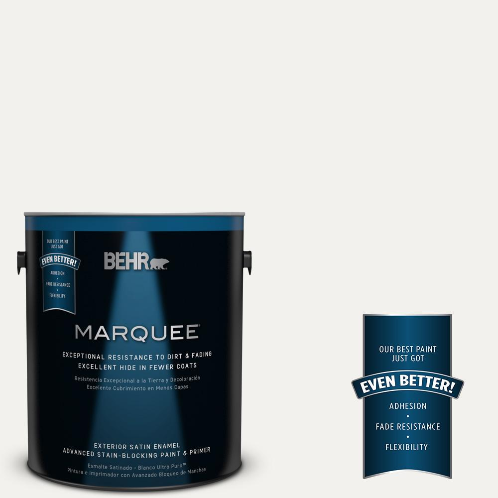 BEHR MARQUEE Home Decorators Collection 1-gal. #HDC-MD-06 Nano White Satin Enamel Exterior Paint