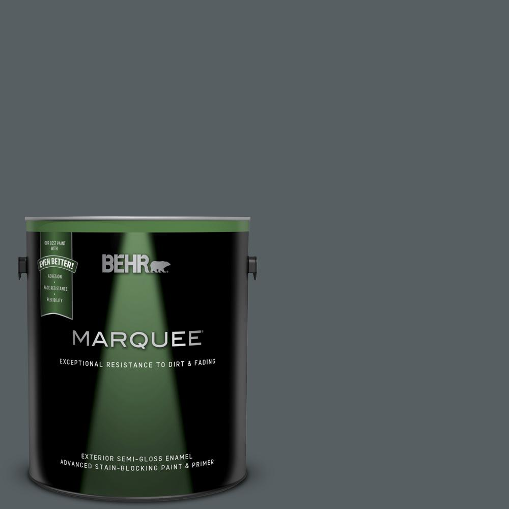 Behr Marquee 1 Gal 720f 6 Paramount Semi Gloss Enamel Exterior Paint And Primer In One 545301 The Home Depot