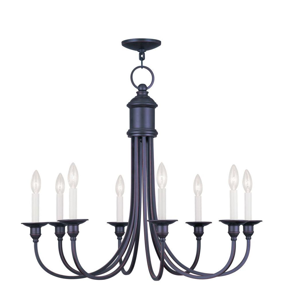 Providence 8-Light Olde Bronze Incandescent Ceiling Chandelier