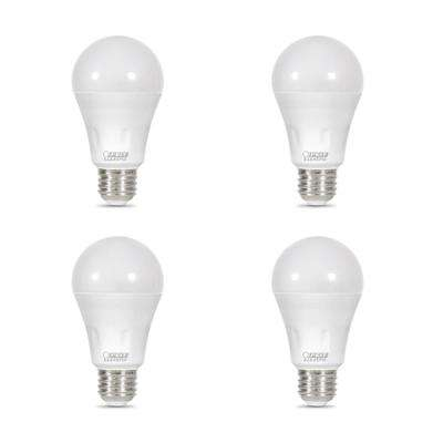 40-Watt Equivalent A19 Non-Dimmable Blue Laser and Soft White Dual Mode LED Light Bulb (4-Pack)
