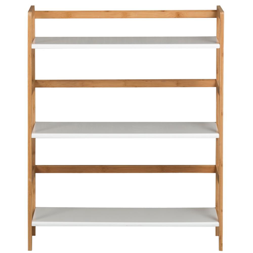 White 3-Tier Bookcase
