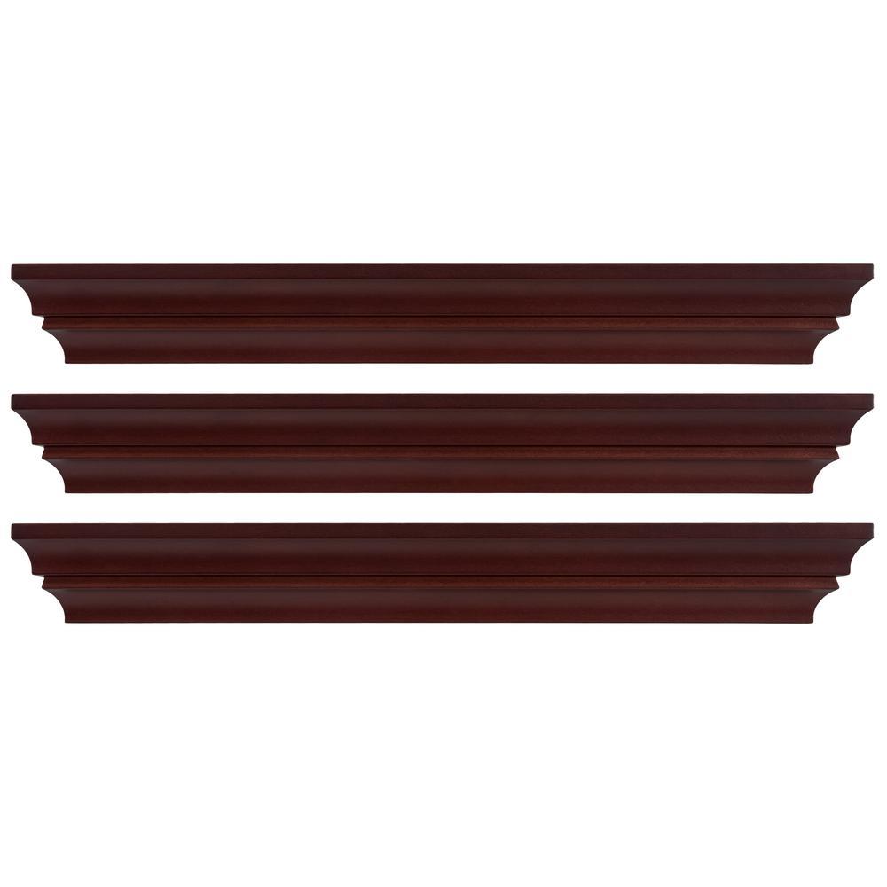 Black Set of 4 Kiera Grace Classic Multi Length Shelves