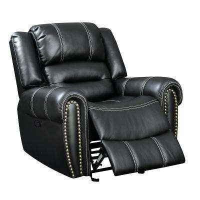 Talia Black Leatherette Recliner Chair