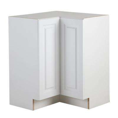 Benton Assembled 27.6 in. x 27.6 in. x 34.5 in. Lazy Susan Corner Base Cabinet in White