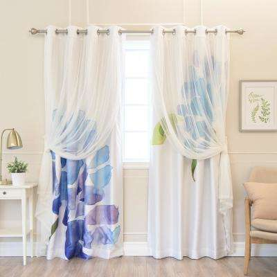 Blackout Floral Curtains Drapes Window Treatments The Home
