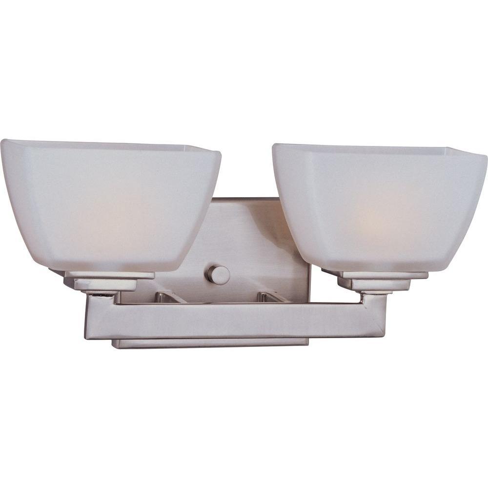 Maxim Lighting Angle 2-Light Satin Nickel Bath Vanity Light