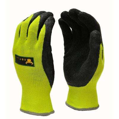 Premium Medium High Visibility All Purpose MicroFoam Double Texure Coating Safety Work and Garden Gloves