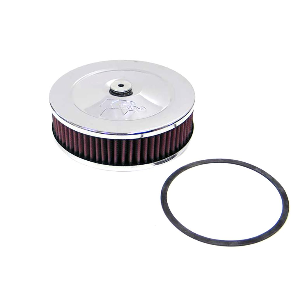K&N 5-1/8in Flange Custom Air Cleaner Assembly K&N's custom air cleaner assemblies are designed with the racer in mind. They incorporate good looks as well as the superior air flow that you expect from K&N. These custom air cleaner assemblies are designed for use with any engine that uses a round element air cleaner housing.