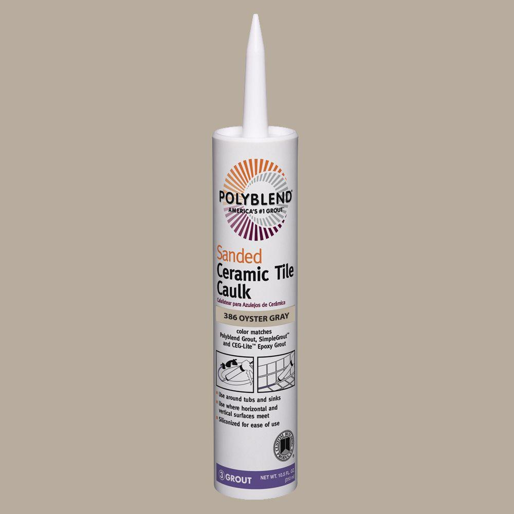 Custom building products polyblend 386 oyster gray 105 oz custom building products polyblend 386 oyster gray 105 oz sanded ceramic tile caulk dailygadgetfo Images