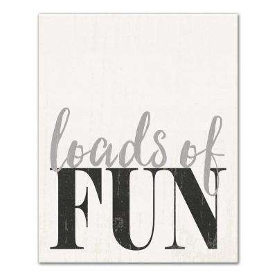 "20 in. x 16 in. ""Loads of Fun Laundry Room"" Printed Canvas Wall Art"