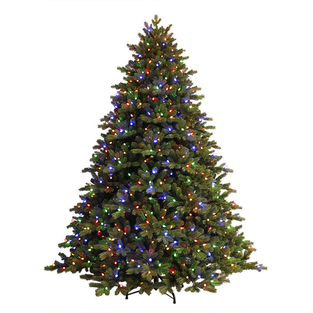 just cut ez light norway spruce artificial christmas tree with c3 dual - Already Decorated Christmas Trees