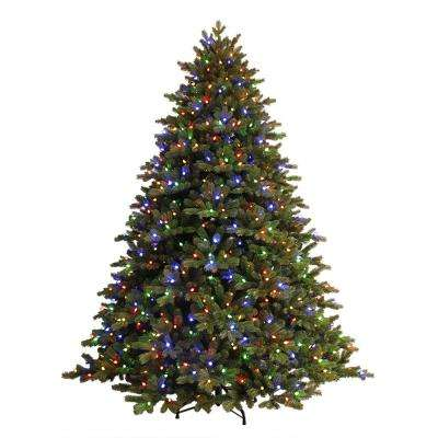 75 ft just cut ez light norway spruce artificial christmas tree with c3 dual color lights - Pre Decorated Christmas Trees For Sale