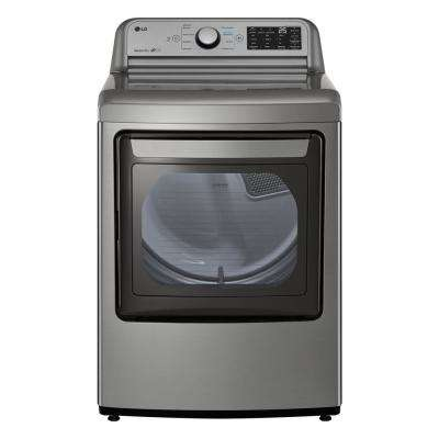7.3 cu. ft. Graphite Steel Electric Dryer with EasyLoad Door
