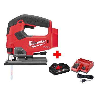 M18 FUEL 18-Volt Lithium-Ion Brushless Cordless Jig Saw with One 5.0 Ah Battery, Charger and Bag