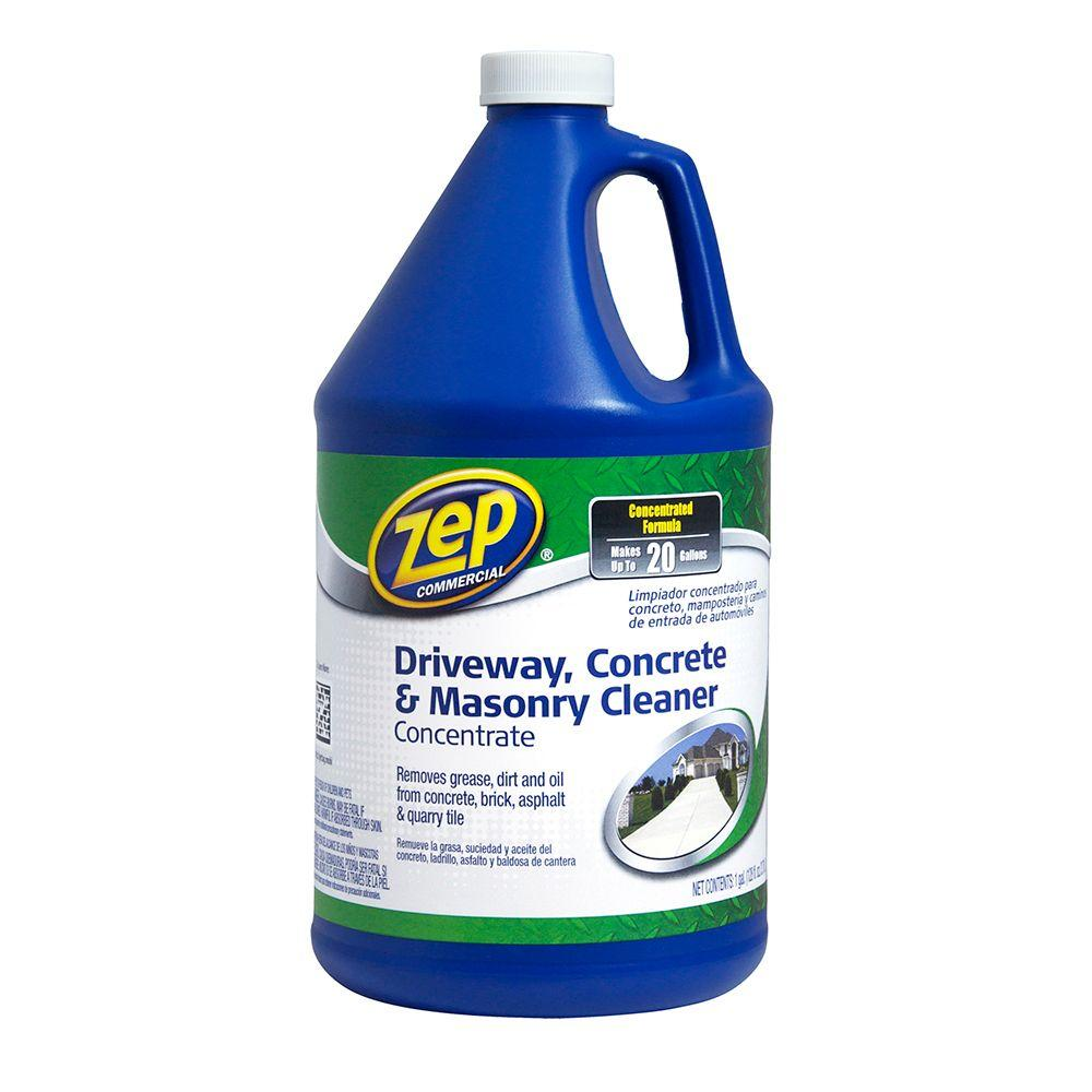 ZEP 128 oz. Driveway, Concrete and Masonry Cleaner-ZUCON128 - The Home Depot