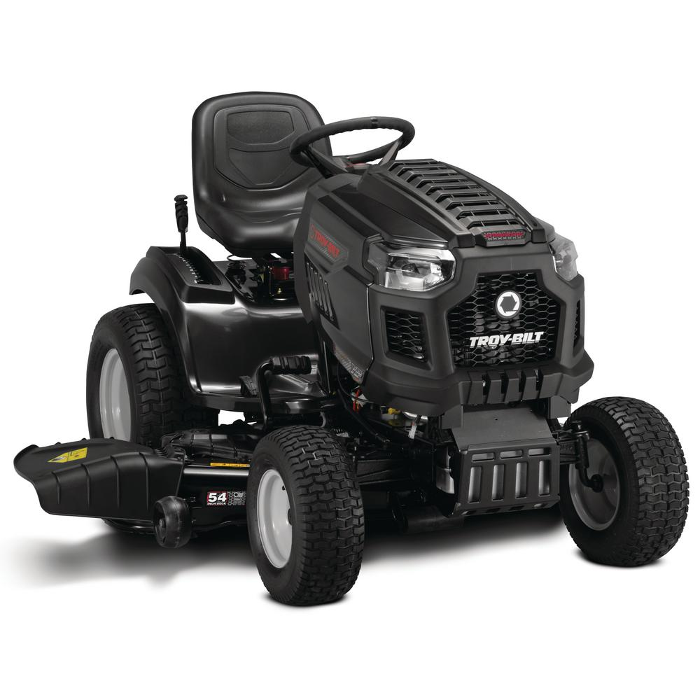 Troy Bilt Super Bronco XP 54 in. 679cc V-Twin Engine Hydrostatic Drive Gas Riding Lawn Tractor with Mow in Reverse