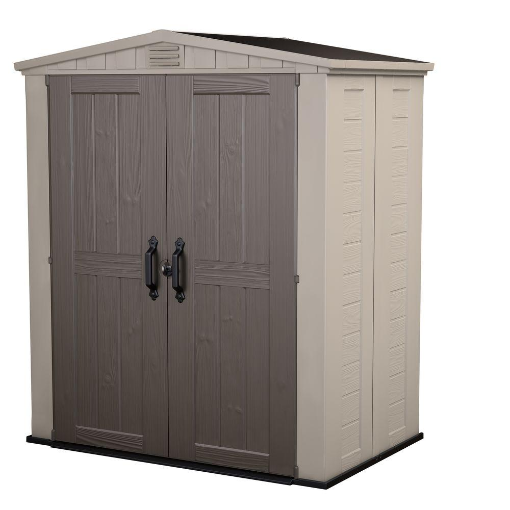 keter factor 6 ft x 3 ft outdoor storage shed 213040 the home depot - Garden Sheds 6 X 3