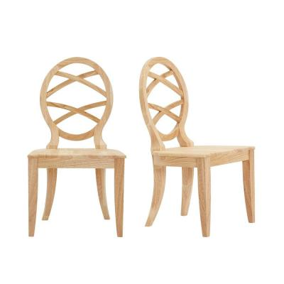 Home Decorators Collection Unfinished Wood Chair with Oval Back (Set of 2) (20.24 in. W x 36.87 in. H)