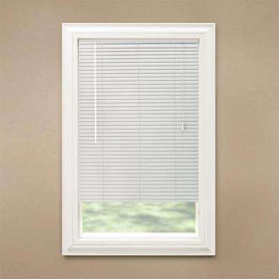 White 1-3/8 in. Room Darkening Aluminum Mini Blind