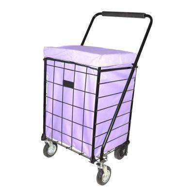 Deluxe Lilac Jumbo Hooded Carrier Liner