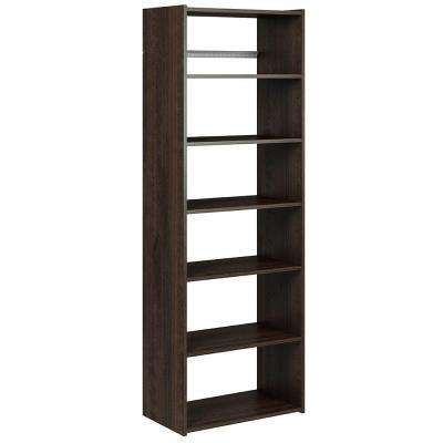 72 in. H x 24 in. W x 14 in. D Espresso Essential Shelf Tower Kit