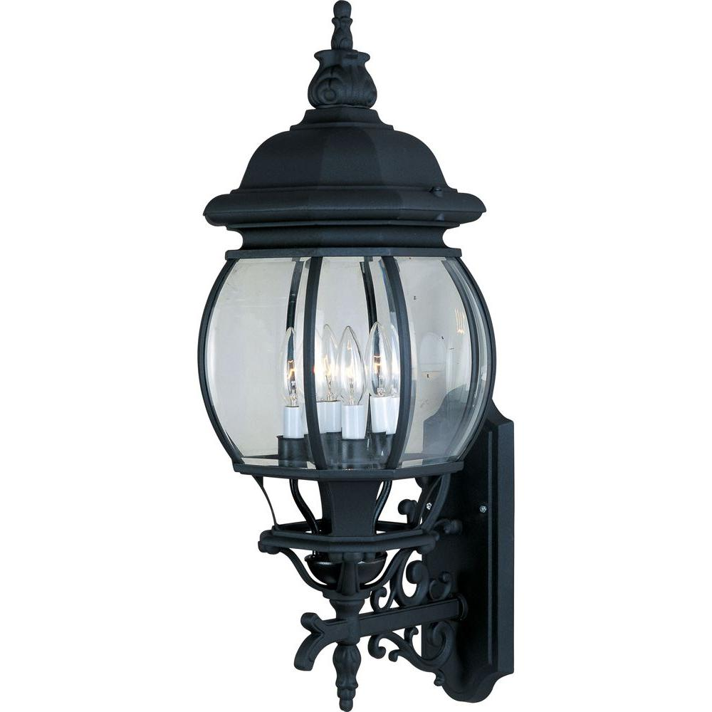 Crown Hill 4-Light Black Outdoor Wall Mount