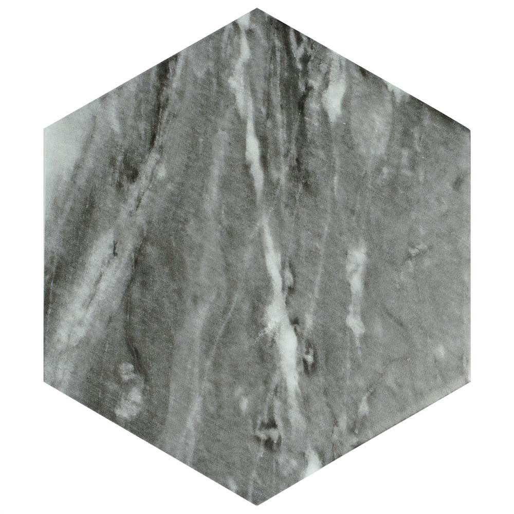 Merola Tile Classico Bardiglio Hexagon Dark 7 in. x 8 in. Porcelain Floor and Wall Tile (7.67 sq. ft. / case)