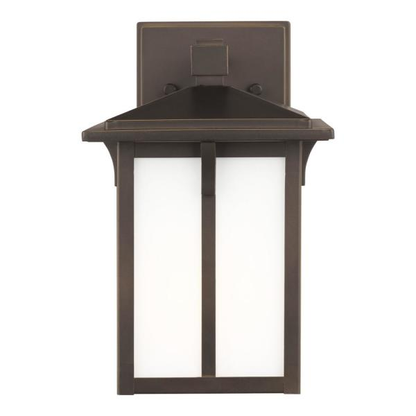 Tomek 1-Light Antique Bronze Outdoor Wall Lantern