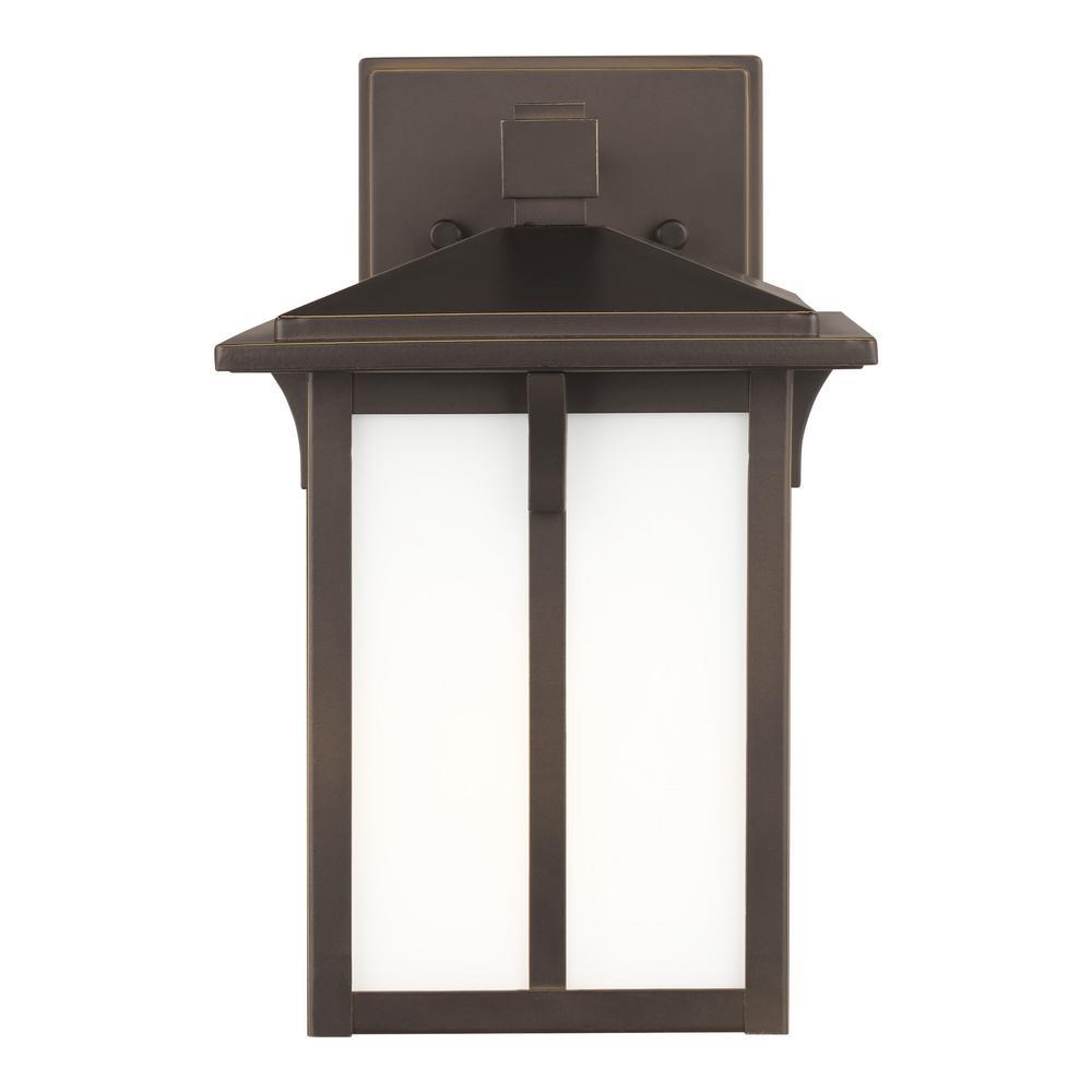 Tomek 1-Light Antique Bronze Outdoor Wall Lantern
