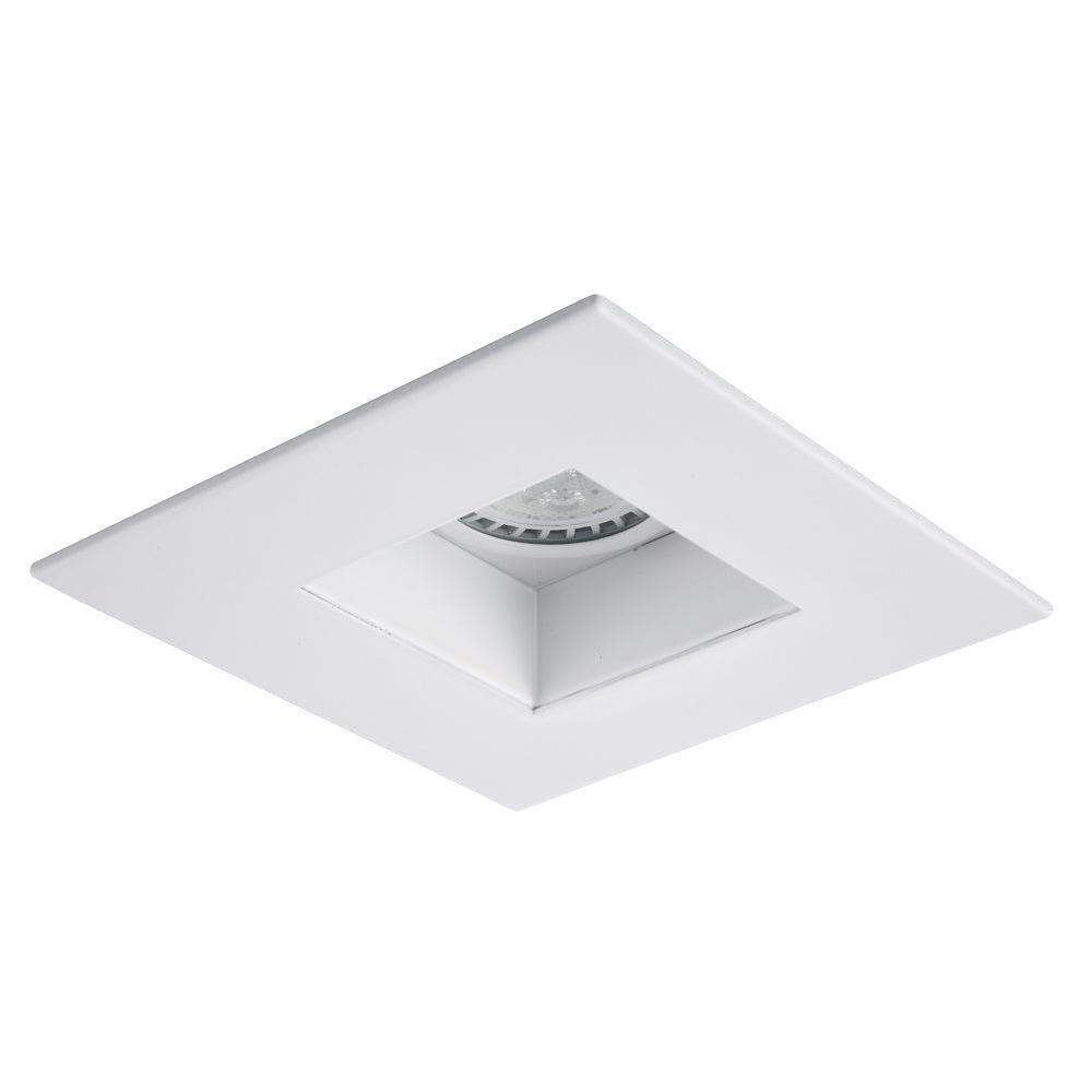 Elegant Lighting 4 In Matte White Recessed Square Trim