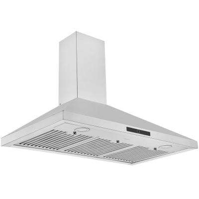 36 in. 600 CFM Convertible Wall-Mounted Pyramid Range Hood in Stainless Steel