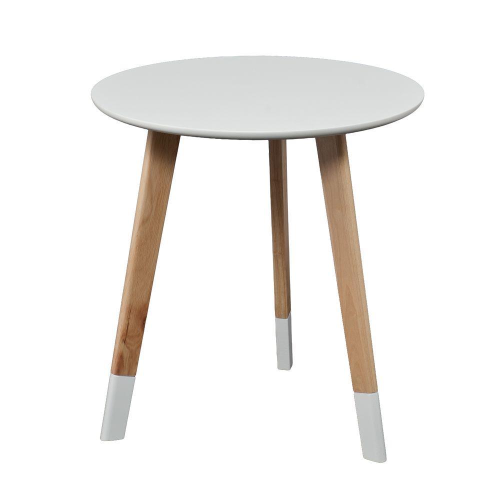 Parker White End Table