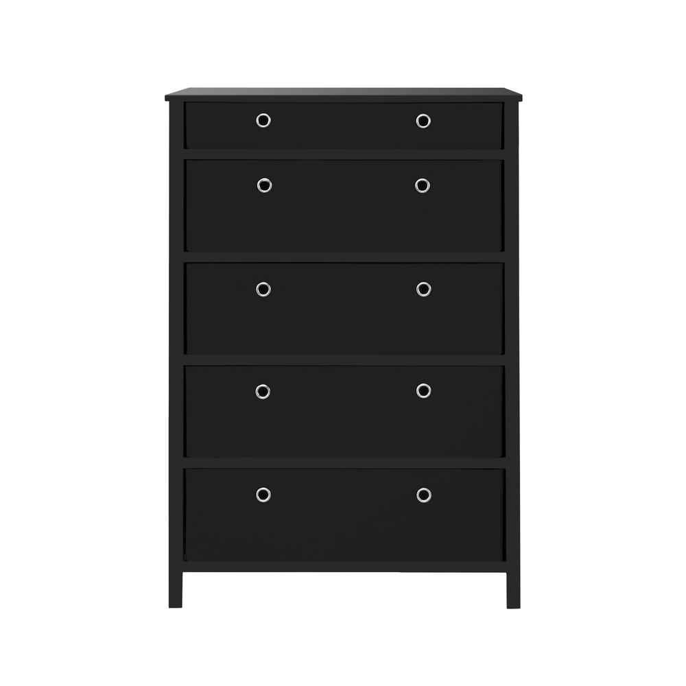 Achim Achim EZ Home Solutions 5-Drawer Black Foldable Tall Dresser