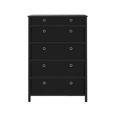 EZ Home Solutions 5-Drawer Black Foldable Tall Dresser