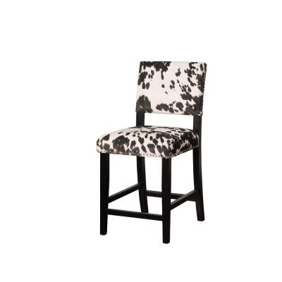 Benjara Traditional Style Black And White Wooden Counter Stool With Footrest Bm144263 The Home Depot