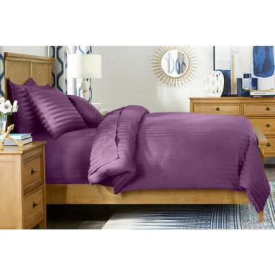 500 Thread Count Egyptian Cotton Sateen 3-Piece Full/Queen Duvet Cover Set in Orchid Damask
