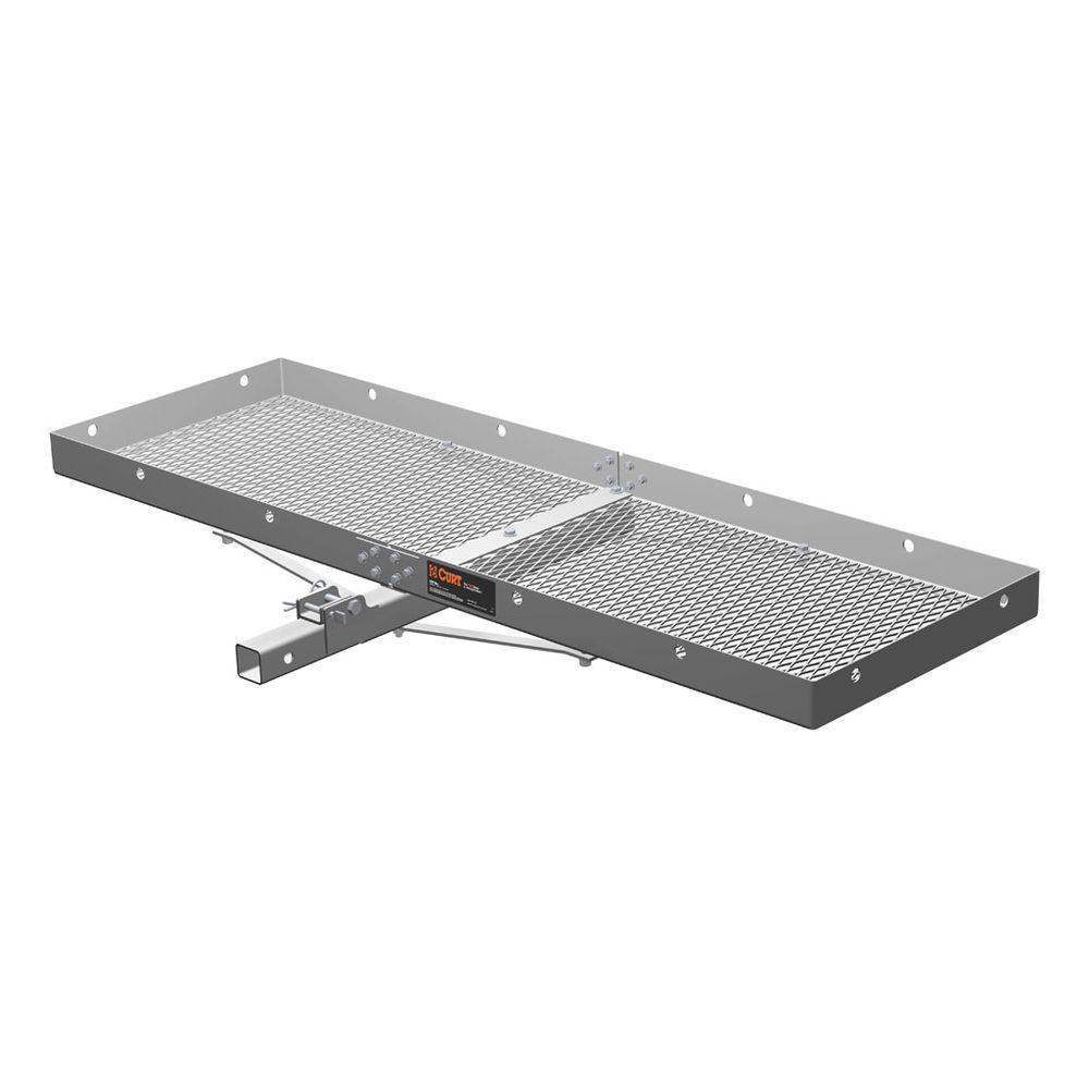 CURT 500 lbs. Capacity Bolt-Together Aluminum Cargo Carrier with 2 in. Folding Shank