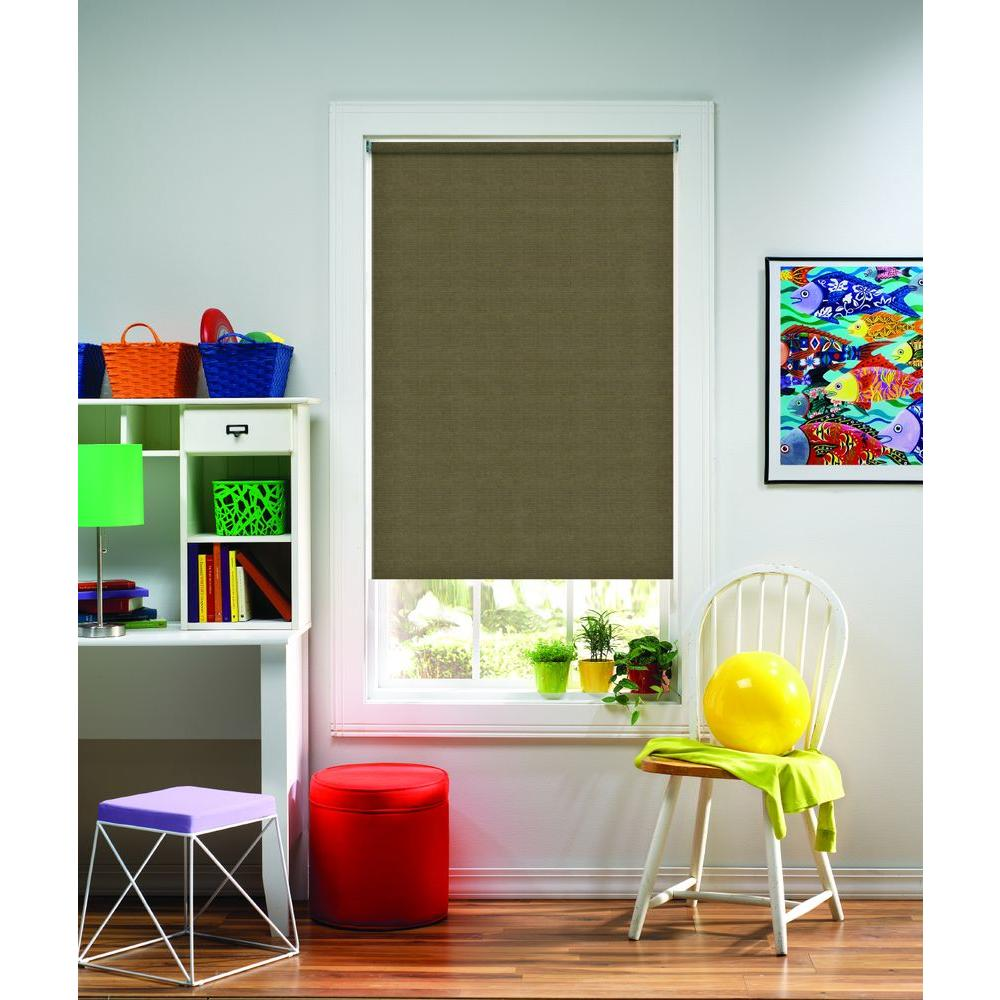 Bali Cut-to-Size Cut-to-Size Bermuda Cordless Light Filtering Fade resistant Roller Shades 54 in. W x 72 in. L