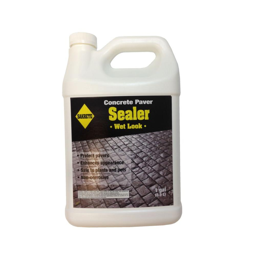 SAKRETE Gal WetLook Paver Sealer Pack The Home Depot - Behr wet look paver sealer
