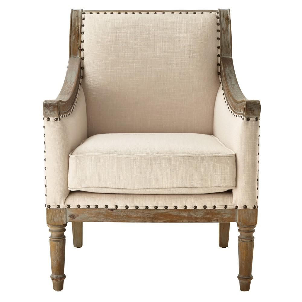 Home Decorators Collection Lucie Natural Rolled Back Upholstered Accent  Chair