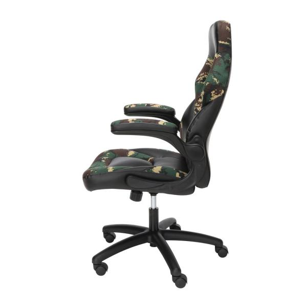 Ofm Essentials Collection Racing Style Bonded Leather Gaming Chair In Forest Camo Ess 3085 Fst Ess 3085 Fst The Home Depot