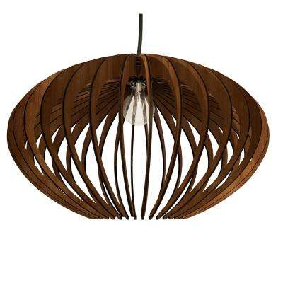 1-Light Walnut Varnish Pendant