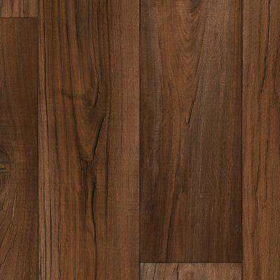 Aged Bourbon 13.2 ft. Wide x Your Choice Length Residential Sheet Vinyl Flooring