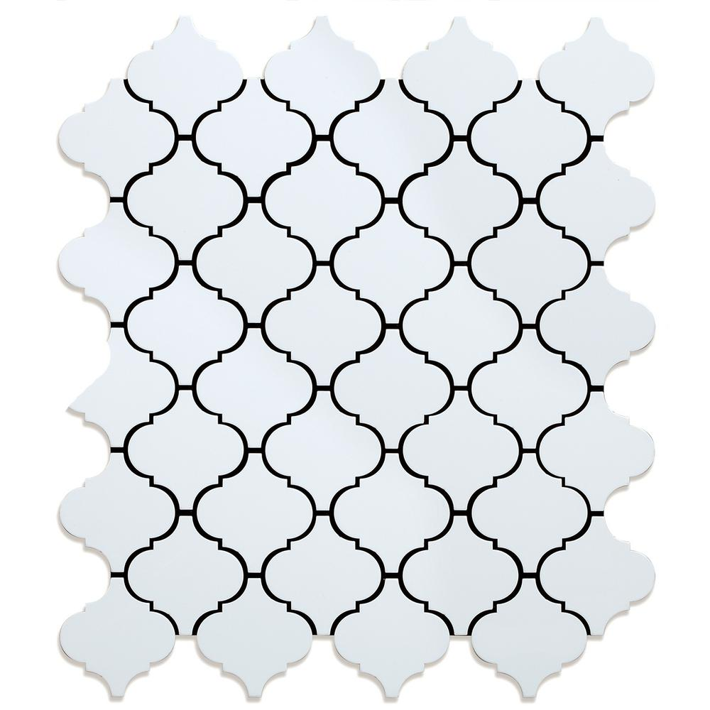 Inoxia Speedtiles Take Home Sample Marrakesh White 4 In X 4in Metal Peel And Stick Wall Mosaic Tile 0 11 Sq Ft Each Sam Id120mwh544 The Home Depot